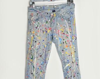 Paint Splatter Vintage Jeans
