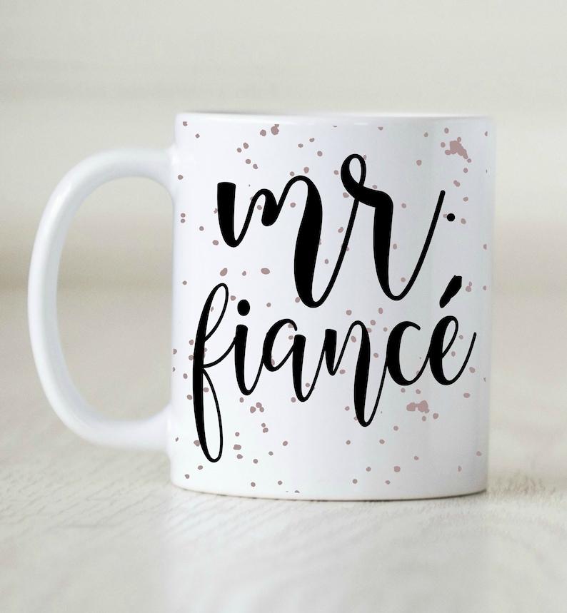 Engagement Gift For Him Fiance Mug