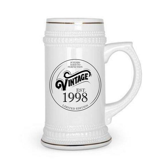 Anniversary Year Gift Custom Beer Stein Custom Beer Mug 10 Year Anniversary 20 Year Anniversary 30 Year Anniversary Wedding Anniversary Gift