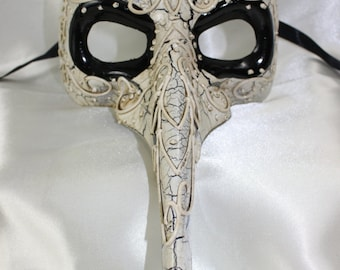 Plague doctor masks etsy mens white long nose theatrical plague doctor full face masquerade mask quality replica 45224 maxwellsz