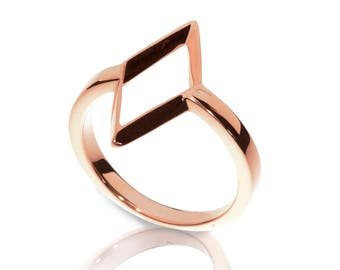 Rhombus Ring - 18K Rose Gold