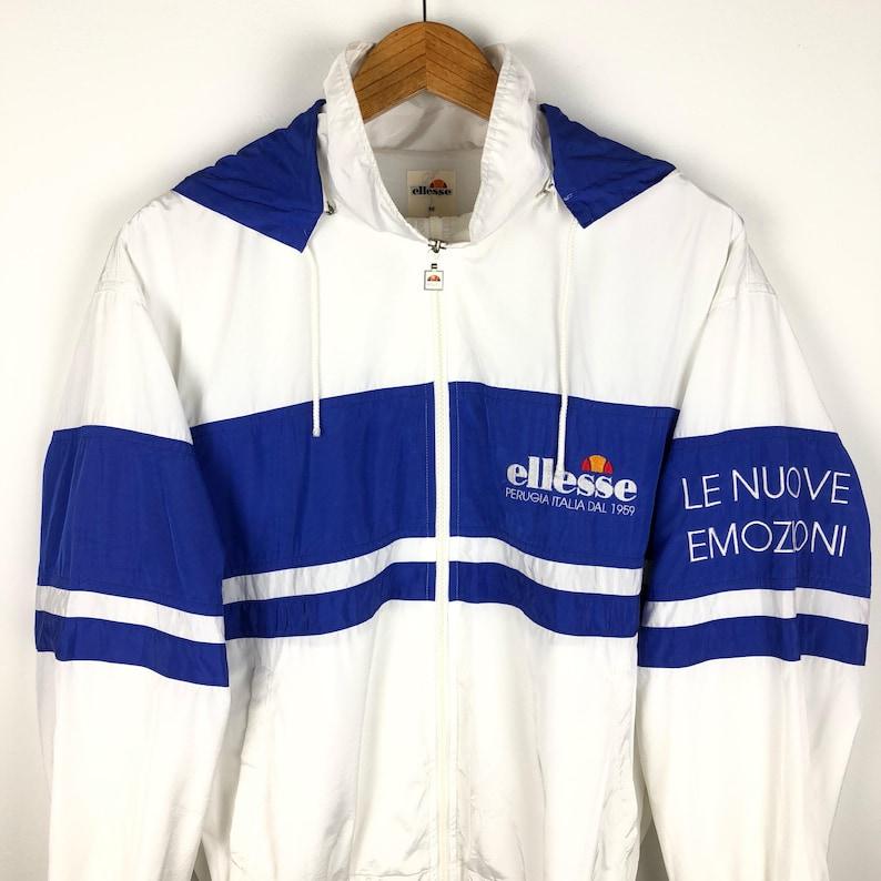 Vintage Ellesse hoodie windbreaker embroided spell