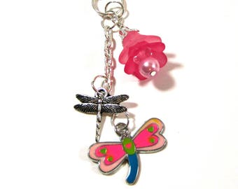 Dragonfly Planner Charm - Erin Condren Planner Charm - Purse Charm - Zipper Pull - TN Charm - Travelers Notebook Charm