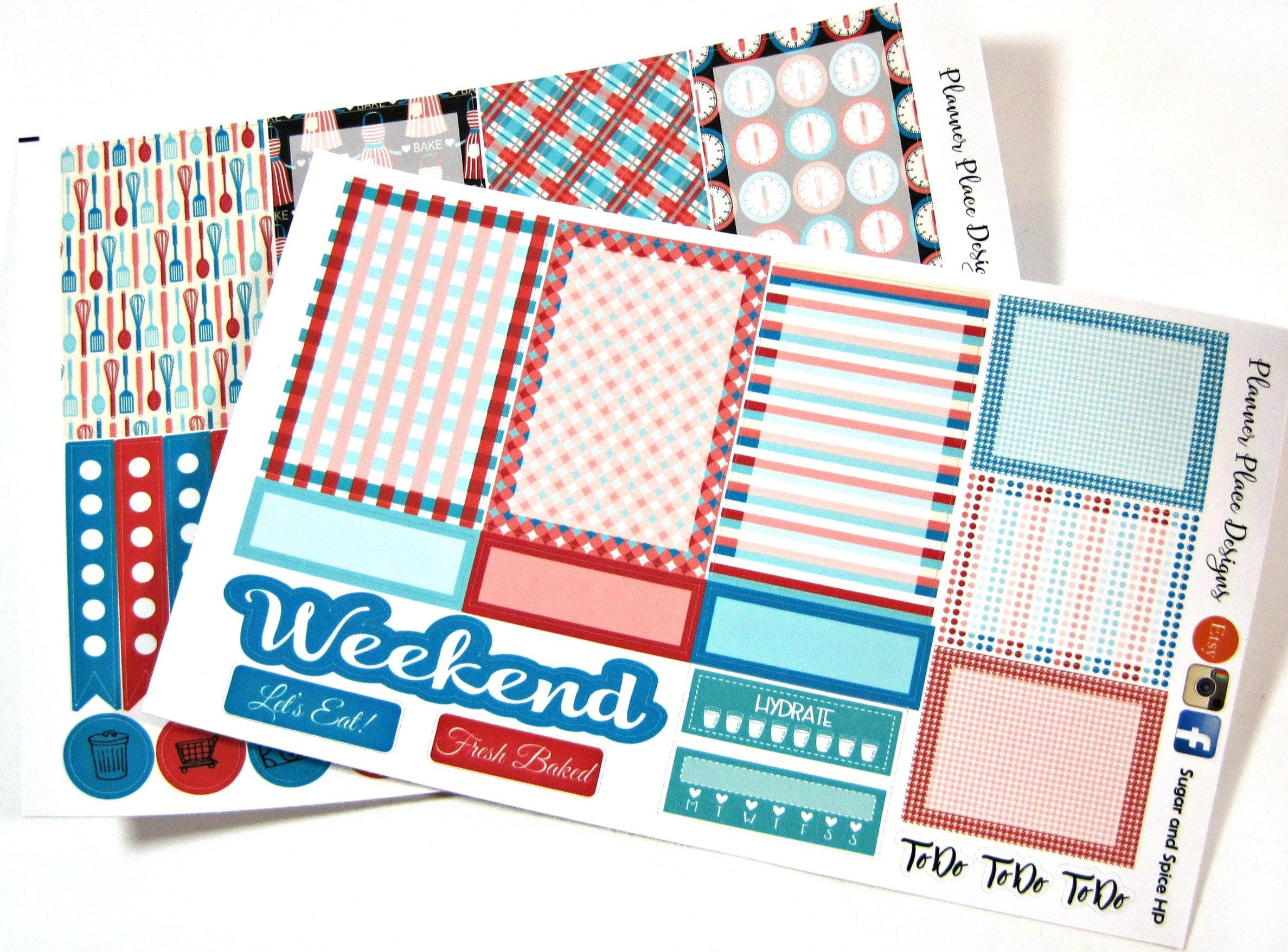 Kitchen Baking Planner Stickers -Sugar and Spice - Weekly Planner ...