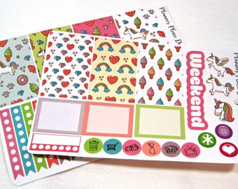 Planner Stickers - Weekly Planner Stickers - Happy Planner Stickers - Day Designer - Functional Stickers - Unicorn Stickers