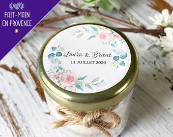 Bougie mariage personnalisée et parfumée | Cadeaux invités mariage baptême personnalisés avec votre logo