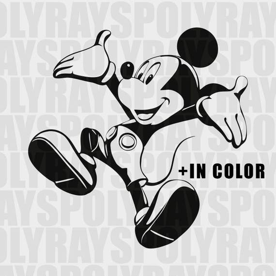 Mickey Mouse SVG Disney PNG EPS Mikey Stencil Mouse Vector | Etsy