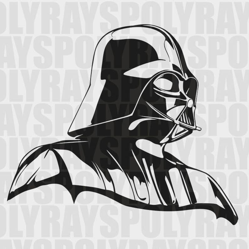 Darth Vader Svg Star Wars Stencil Instant Download Eps Etsy