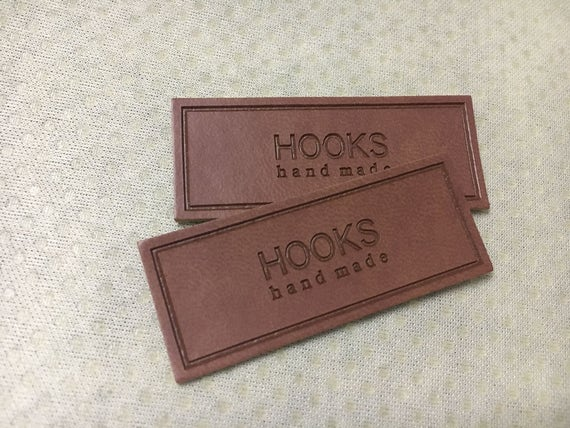 PU leather patches 1000 Custom leather labels Personalized label custom clothing label Hats patches leather clothing tag