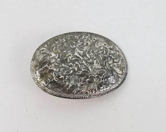 Boucle de ceinture Montana Silversmiths Sterling plaque d argent ornés de  fleurs 2d5f10e7047