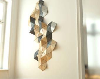 Modern wood wall art/ Geometric wall decor/ abstract wall art/ gray wall art/ plywood furniture/ wooden wall art/ large wall decoration
