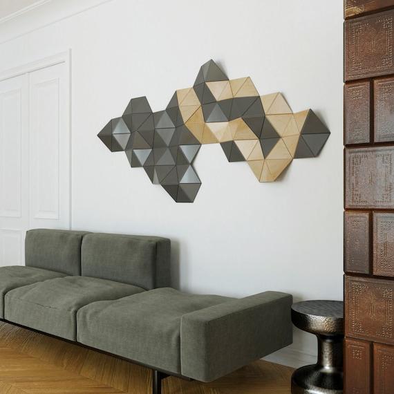 Foto Kunst Voor Aan De Muur.Geometrische Houten Kunst Muur Beeldhouwkunst Houten Wand Decor Abstracte Muur Kunst Kunst Aan De Grijze Muur Houten Muur Kunst
