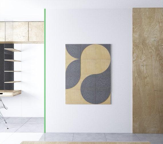 Geometrische Holz-Wand-Kunst, Wohnzimmer-Wand-Dekor, dekorative Wand-Kunst