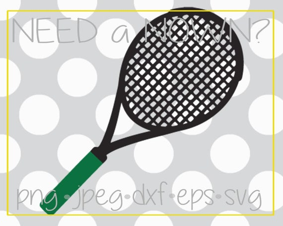 Just A Tennis Racquet Tennis Racket Tennis Clip Art Tennis Etsy