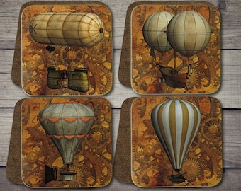 Steampunk Airship Coasters, Steampunk Airships, Steampunk Design, Steampunk Flying Machines.