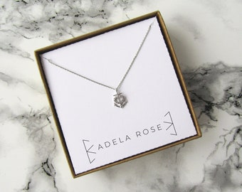 CZ Anchor Necklace, CZ Pendant Necklace, Dainty Necklace, Statement Necklace, Boho Necklace, Boho Jewelry, Festival Jewelry, Boho Chic
