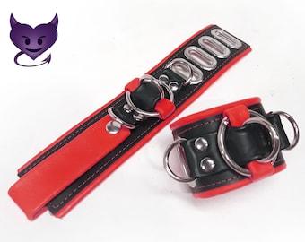 Leather Bondage BDSM Cuffs Restraints by Deviant Leather