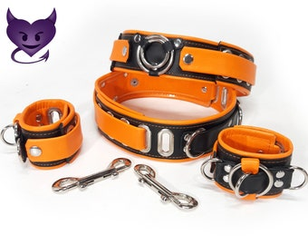 Thigh & Wrist Cuff set by Deviant Leather