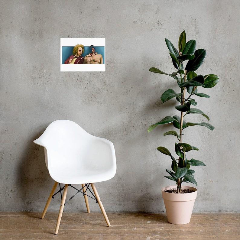 Beetlejuice Waiting Room Poster