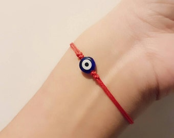 Evil Eye Bracelet, Nazar Bracelet, Lucky Bracelet, Turkish Evil Eye, Evil Eye Protection, Charm Bracelet, Friendship Bracelet, Tiny Bracelet