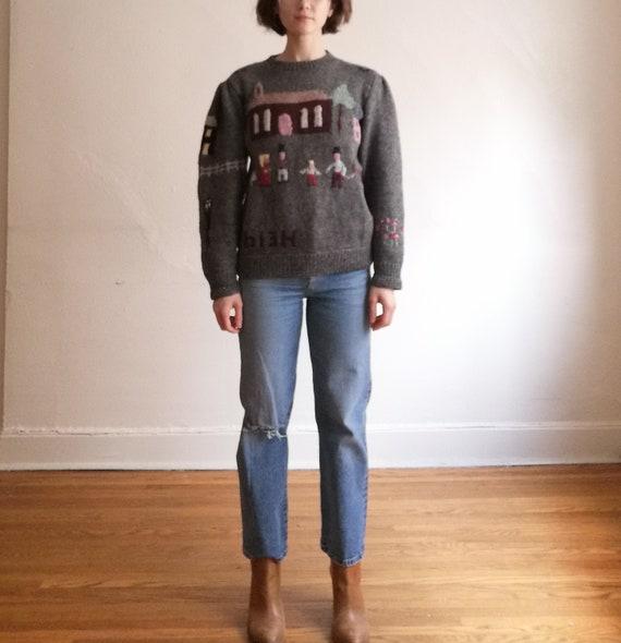 100% knit with love vintage pullover // vintage ha