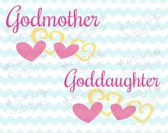 Goddaughter SVG, Godmother SVG, Goddaughter, Godmother, SVG, svg files, Cricut, Silhouette, Baptism, Goddaughter Gift, Gift for Godmother