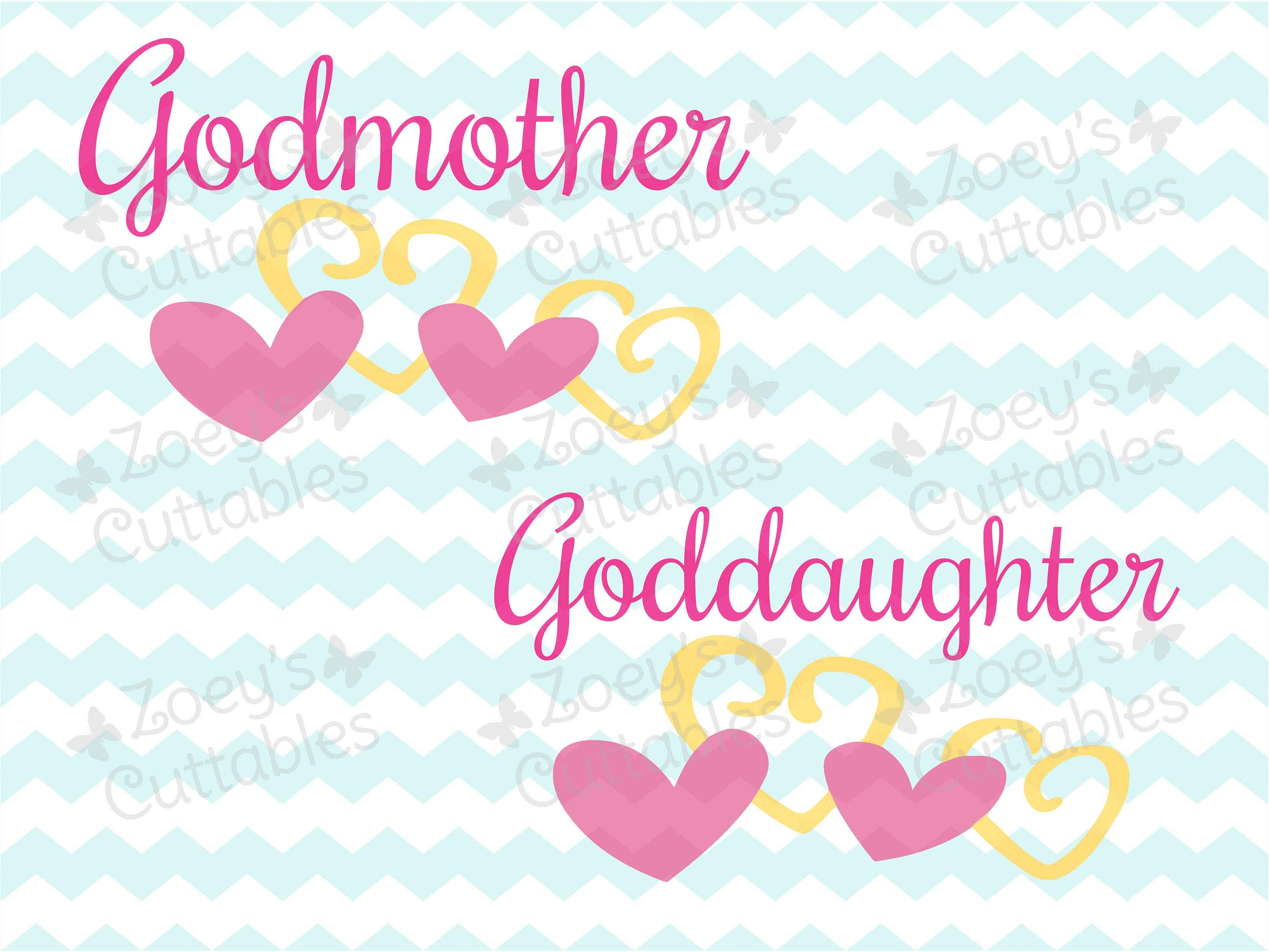 Goddaughter SVG Godmother SVG Goddaughter Godmother SVG | Etsy