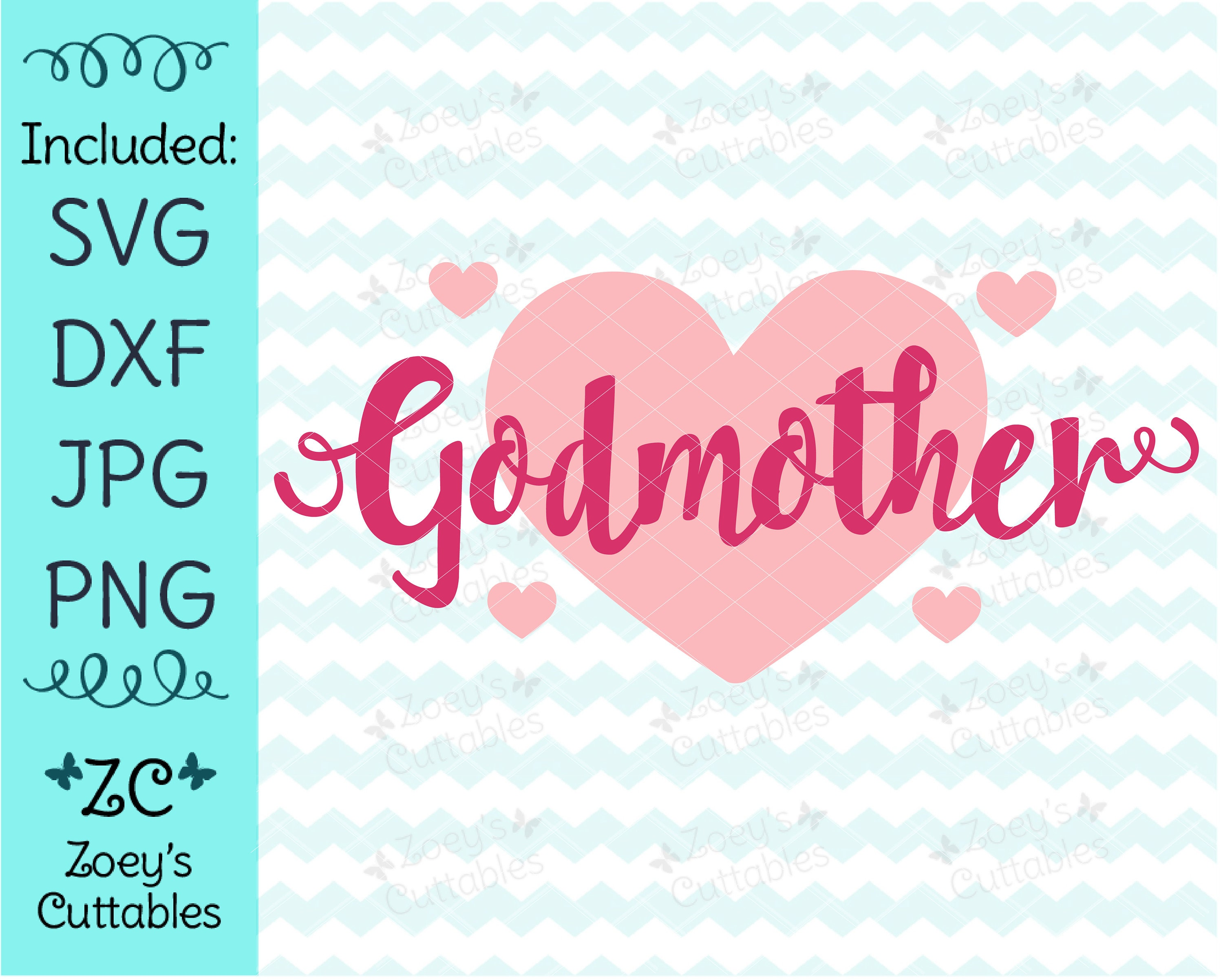 Godmother SVG Best Godmother SVG Goddaughter SVG Godmother | Etsy