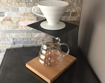 Pour Over Stand HARIO V60, coffee maker, manual brew, dripper, steel, wood, Chemed, Bodum, Kinto