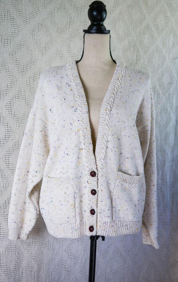 Vintage 1990's White Cardigan