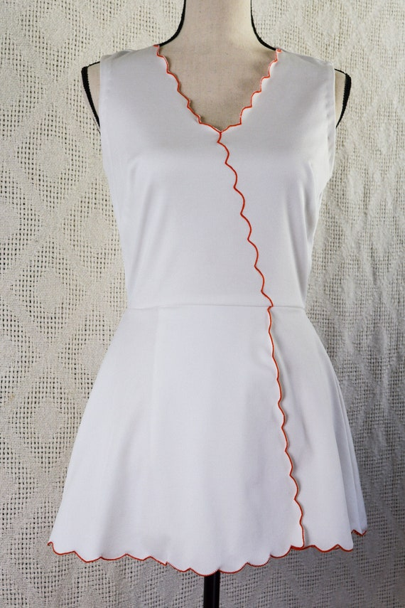 Vintage 1970's Polyester Tennis Dress