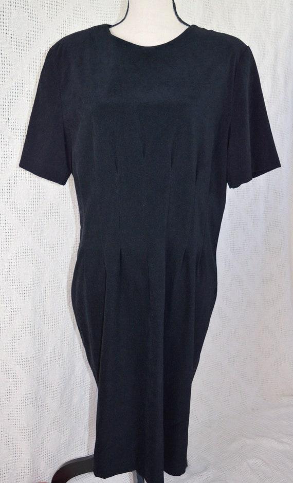 Vintage 1990's Plus Size Suade Little Black Dress