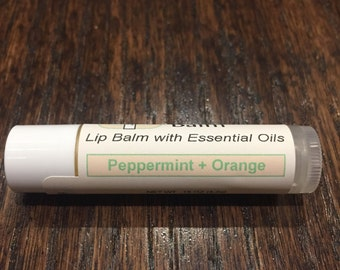 Peppermint+Orange Lip Balm with Essential Oils