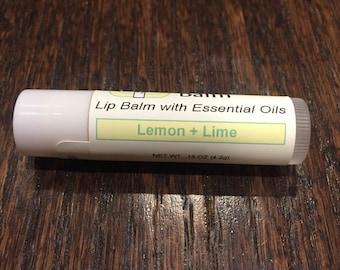 Lemon+Lime Lip Balm with Essential Oils