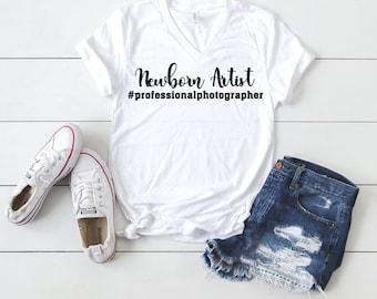 """Photographer's """"Newborn Artist"""" T-shirt"""