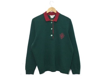 03ab199b708 Vintage gucci sweatshirt pullover jumper sweater embroidery big spellout  logo half button