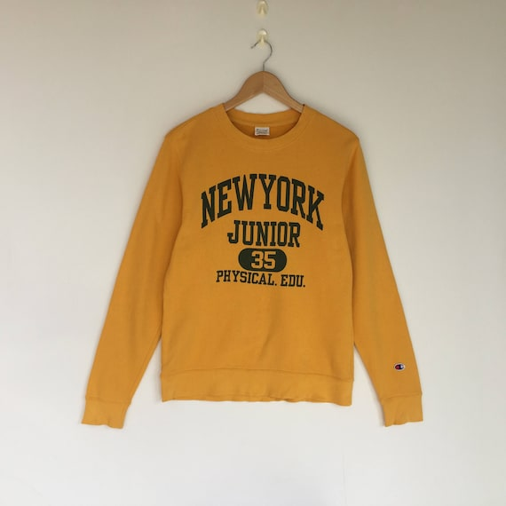 Vintage champion sweatshirt   yellow colour   jumper    215f09595f7f