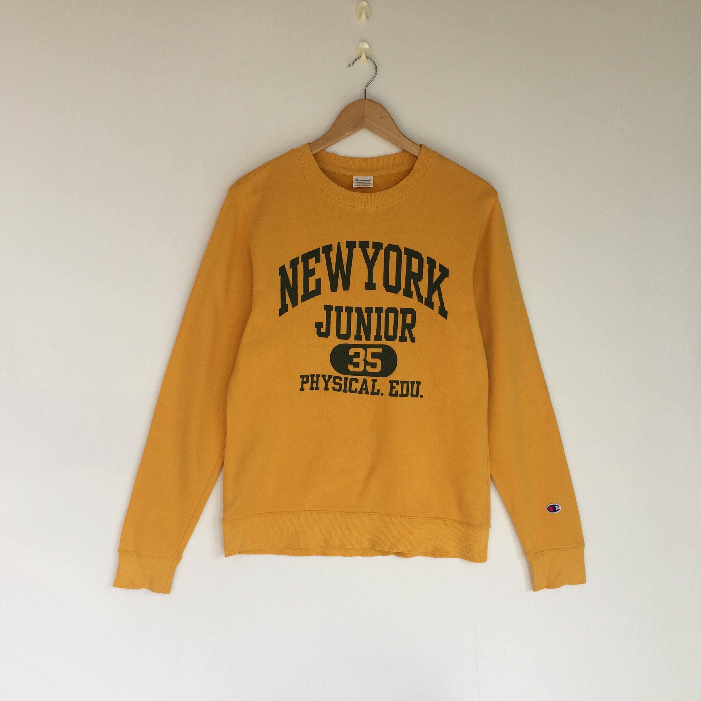 2bfbe12a Champion Sweatshirt Yellow - raveitsafe