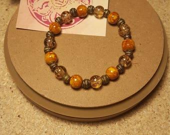 Beaded bracelet, tribal bracelet, glass bracelet