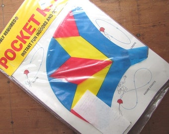 Vintage Pocket Kite 1987 Factory Sealed Vintage Toy Kite Mint Condition