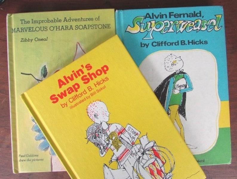 79ec1e8c0530 Alvin Fernald Superweasel and Alvin's Swap Shop Clifford B Hicks Young  Adult Fiction Marvelous O'Hara Soapstone