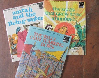 Arch Religious Bible Stories Children's Books Amrah and the Living Water The Seed That Grew The Walls Came Tumbling Down