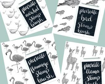 Procreate brush stamp collection - procreate brush - procreate stamp - procreate lettering - ipad pro lettering - digital lettering