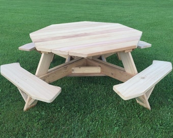 Cedar Picnic Table Etsy - Stainless steel picnic table