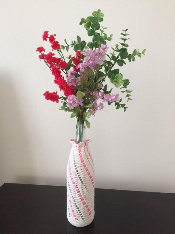 Beschenkung häkeln bedeckt Flasche Vase Handarbeit | Etsy