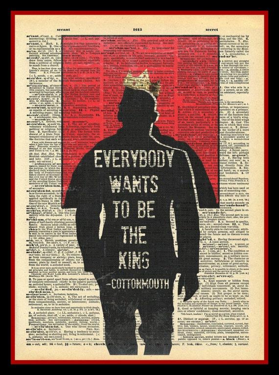 Biggie Smalls Notorious BIG Luke Cage Giant Wall Art Split Poster Print