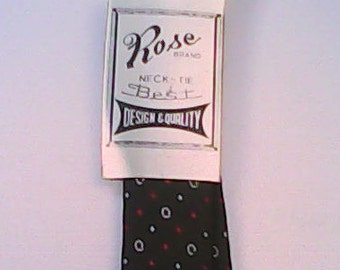 Tie 1960s Rose Brand.