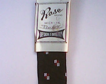 Tie 1960s Rose Brand