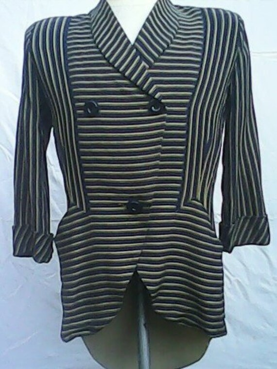 Jacket/Top By Stefney Utility Double Elevens 1940s