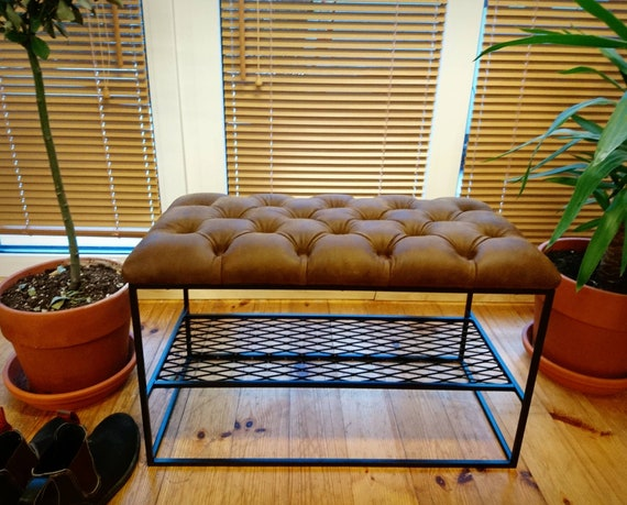 Incredible Hallway Bench With Shoe Rack And Leather Machost Co Dining Chair Design Ideas Machostcouk